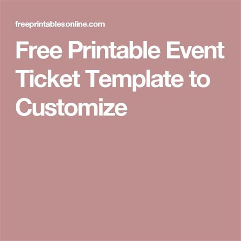ticket design template free free sample recommendation letter from