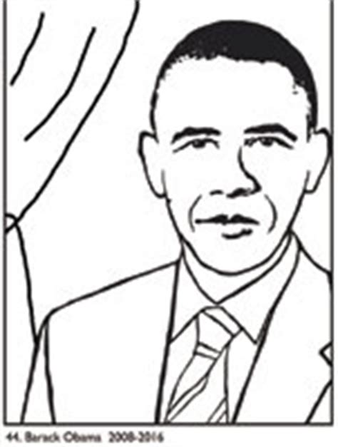 barack obama coloring page pdf president coloring pages