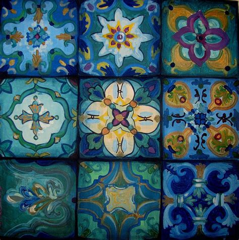 islamic pattern canvas islamic ceramic pattern painting by luciana toma