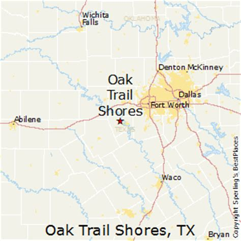 oak texas map best places to live in oak trail shores texas
