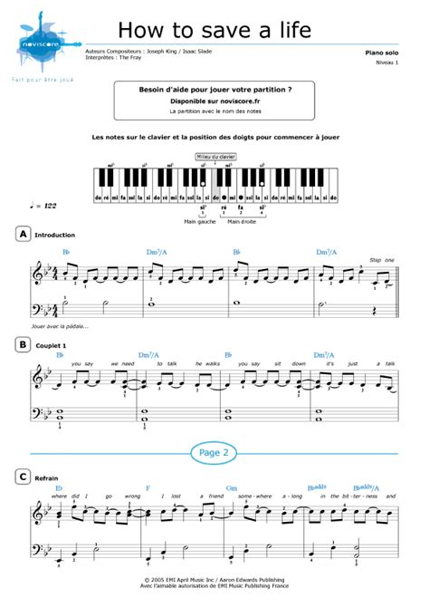 tutorial piano how to save a life tutorial piano how to save a life partition piano how to