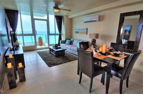 beachfront condo design tropical living room