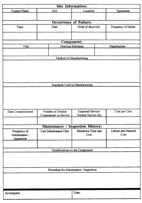 failure analysis report template failure analysis report template tm sheet
