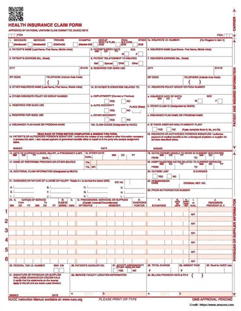 health insurance claim form 1500 template reassure america insurance company claim forms form