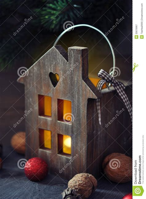 christmas lantern stock image image  festive greeting