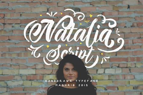 The Ghost Of Natalias Presentom by Script Display Fonts On Creative Market