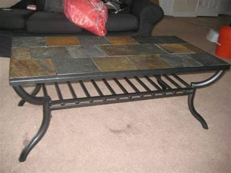 slate tile coffee table 13 best wrought iron tile top table images on