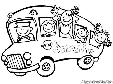 Mewarnai Mobil mewarnai gambar mobil bis sekolah antoeng74