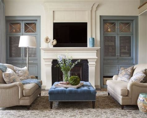 Living Room Cabinets Around Fireplace Built In Cabinets Around Fireplace Houzz