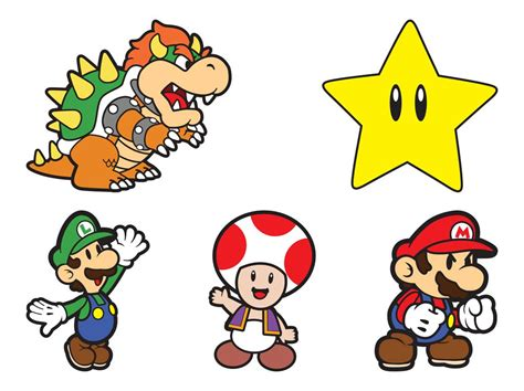 Or Characters Mario Characters Vector Graphics Freevector