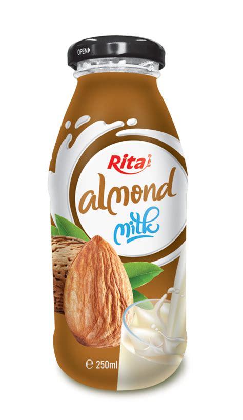 Monchan Almond Milk Almond Vanilla 250ml glass bottle almond milk 250ml label beverages