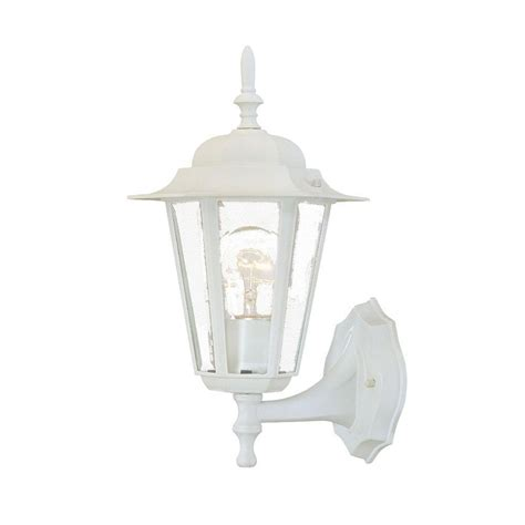 Acclaim Lighting Camelot Collection 1 Light Textured White White Outdoor Light Fixtures