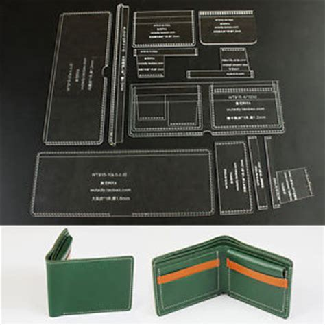 Folding Wallet Card Template by Bifold Wallet Leather Template Acrylic Craft Pattern With