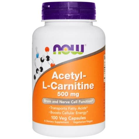 Acetyl L Carnitine And Detox by Acetyl L Carnitine 500 Mg 100 Veg Caps Now Foods