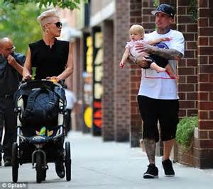 Family time pink and carey hart take their daughter willow for a