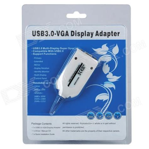 Gratis Ongkir Adapter Display Usb 3 0 Ke Vga usb 3 0 to vga display adapter free shipping dealextreme