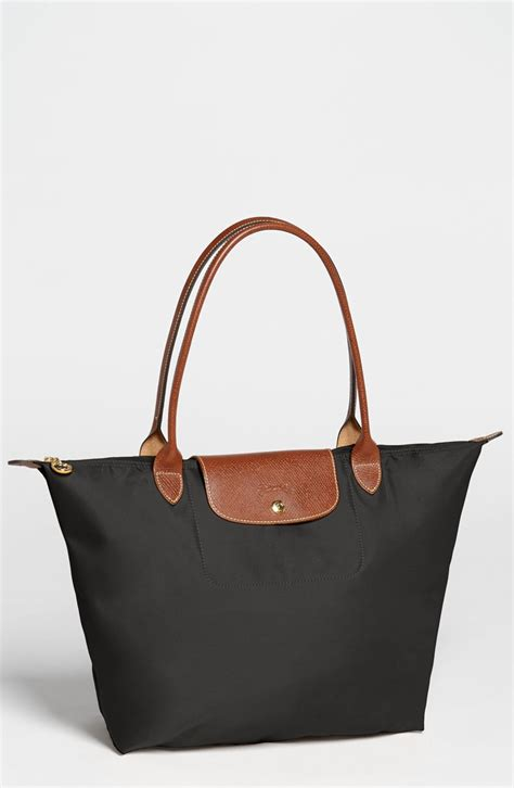 Tote Bag longch le pliage large tote in black lyst