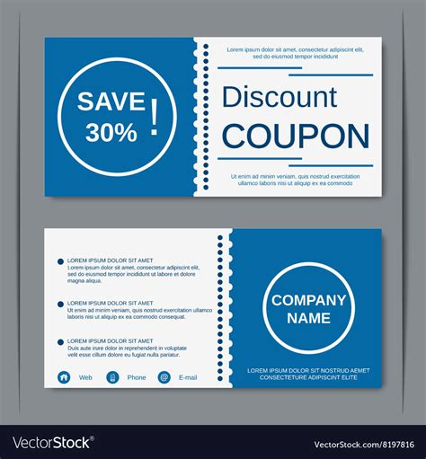 Discount Coupon Design Template Royalty Free Vector Image Coupon Design Template
