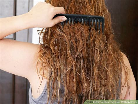 Drying Curly Hair Without Frizz 3 ways to hair without frizz wikihow
