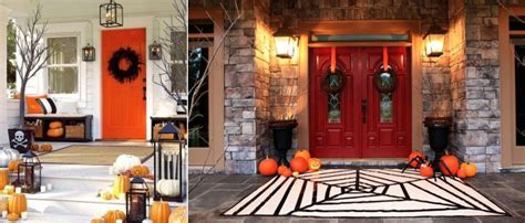 Scary Outdoor Halloween Decorations Wacky Ideas To Decorate Front Porch For Halloween Homecrux