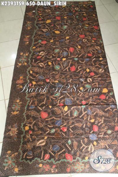 Selimut Halus Salur Cap Daun jual kain batik premium halus motif daun sirih proses tulis soga asli dari indonesia cocok