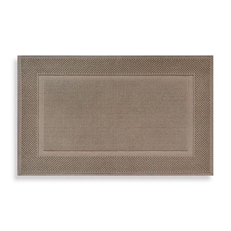 Jacquard Bath Rug Buy Wamsutta 174 Jacquard 20 Inch X 33 Inch Ring Spun Cotton Bath Rug In Sand From Bed Bath Beyond