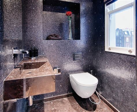 black sparkle bathroom tiles 29 black bathroom tiles with glitter ideas and pictures