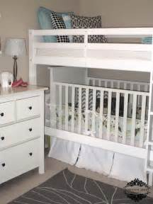 Bunk Bed With Crib On Bottom Bunk With Cot Underneath Decor For Kiddies Rooms