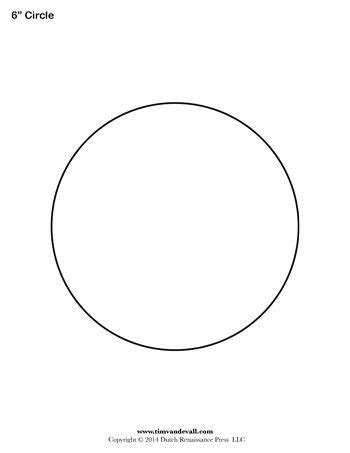 Circle Template 6 Inch Tim S Printables 6 Inch Circle Template