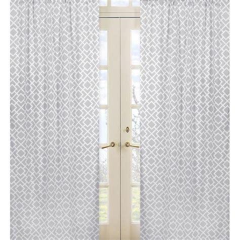 gray  white diamond   curtain panel pair