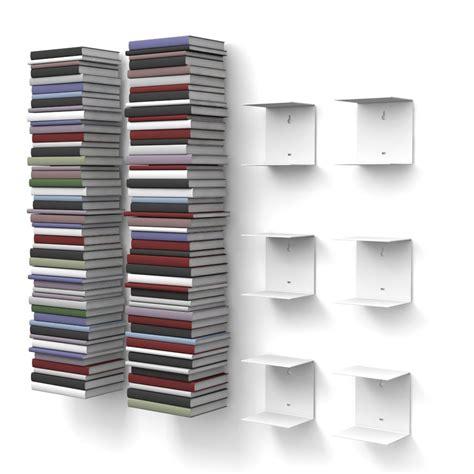 mensola libri di home mensole libreria invisibili colore bianco