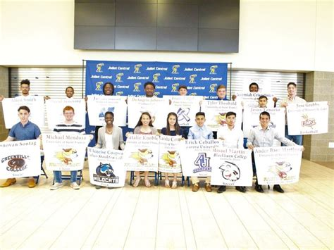 Letter Of Intent Yorkville Joliet Central Class Of 2017 Student Athletes Sign Letters