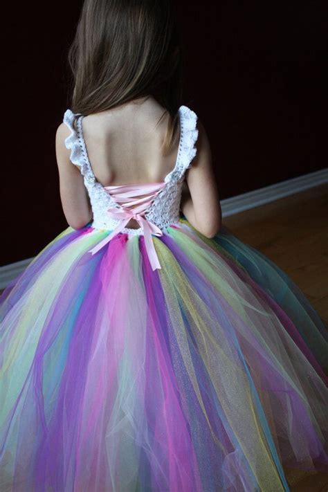 Dress Unicorn Tutu Dress Rainbow Tutu Dress Rainbow Unicorn Dress