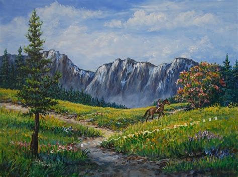 fawn s paintings early summer mountain landscape with