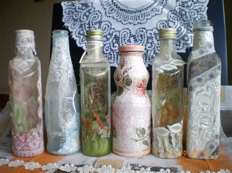 Bottle Decoupage - decoupage bottles decoupage