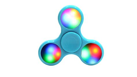 Sale Fidget Spinner Led Motif galaxy fidget spinner led tri spinner with on switch light blue