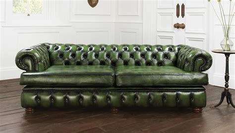 money green leather sofa looking for a brown chesterfield sofa