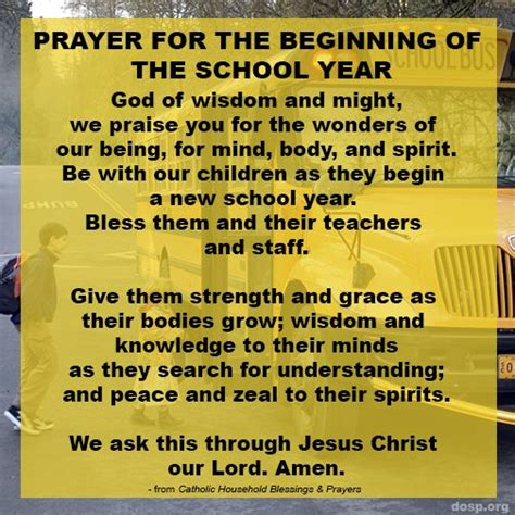 prayer for the new school year prayer for the beginning of the school year