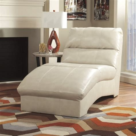 ashley leather chaise ashley paulie leather chaise lounge in taupe 2700015