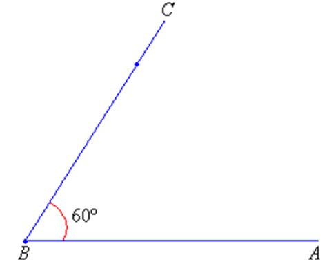Drawing 60 Degree Angle by Drawing Angles Less Than 180 176 With A Protractor