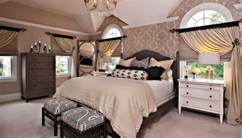 black white taupe bedroom old world charm get the look black white taupe