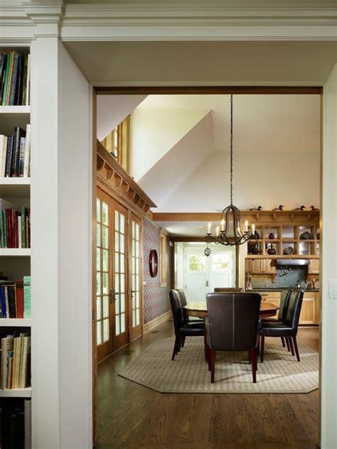 narrow shotgun house traditional dining room chicago