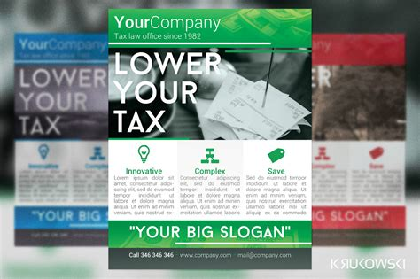 Tax Office Flyer Flyer Templates On Creative Market Office Flyer Templates