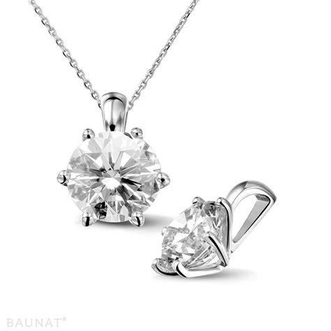 pendants 2 50 carat white golden solitaire
