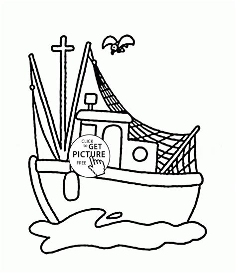 fishing boat coloring pages free small fishing boat coloring page for kids transportation