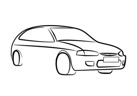 Automobile Outline Clip by Car Outline Vector Clip Domain Vectors