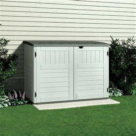 Outdoor Trash Storage Shed by Suncast Trash Can Shed 70 Cu Ft Sam S Club