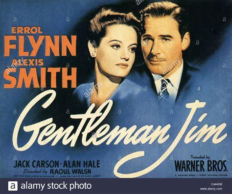 gentleman jim gentleman jim poster for 1942 warner bros film with errol flynn and stock photo royalty free