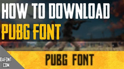 pubg font how to pubg font on android
