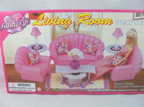 barbie size dollhouse furniture living room set sets sets